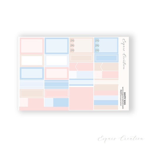 Planner Sticker | Functional Sheet | Happy Mail