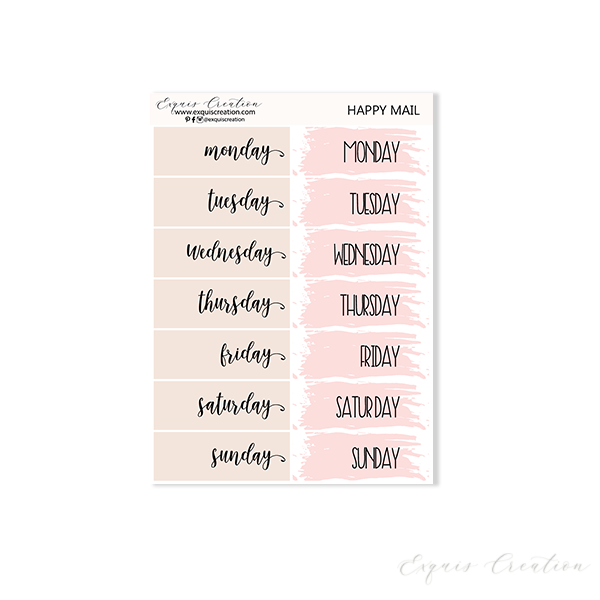 Planner sticker | Happy Mail | Date Covers ADDON