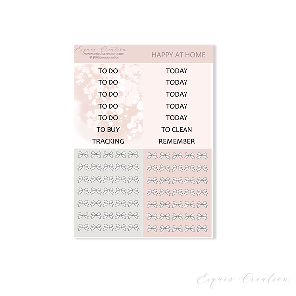 Planner sticker | Happy At Home Headers