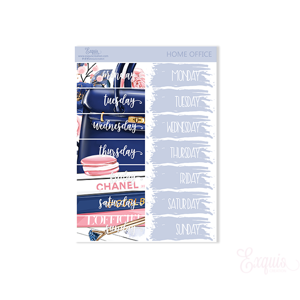 Planner sticker | Home Office | Date Covers ADDON