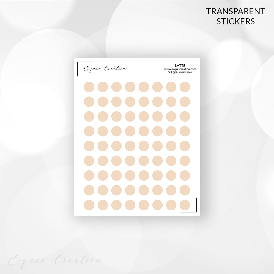 Transparent Stickers | DOTS | LATTE