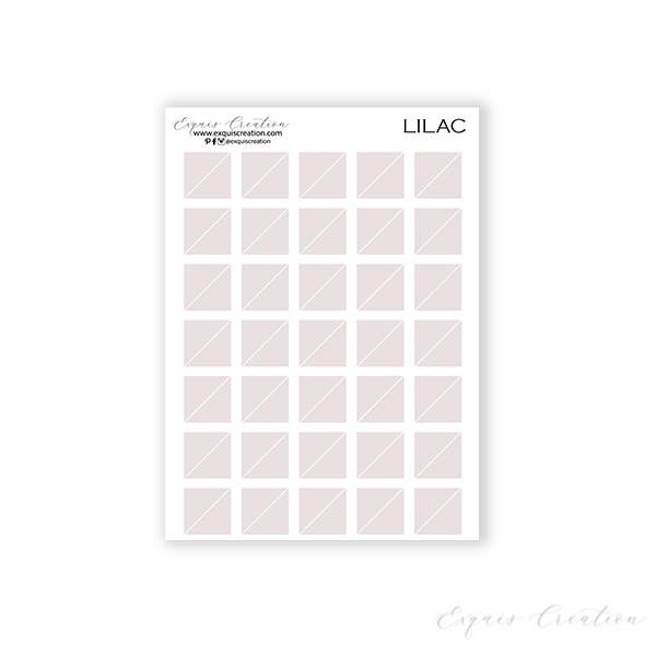 Transparent Sticker | Lilac