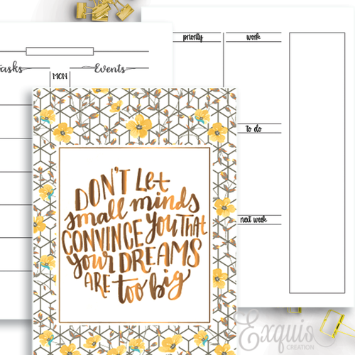 Planner Inserts | Week On One | Printable Inserts
