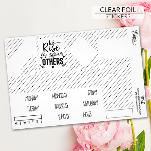 Foil Overlay Sticker Sheet | Rise