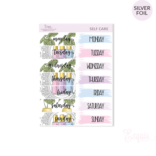 Planner sticker | Self Care | Date Covers ADDON