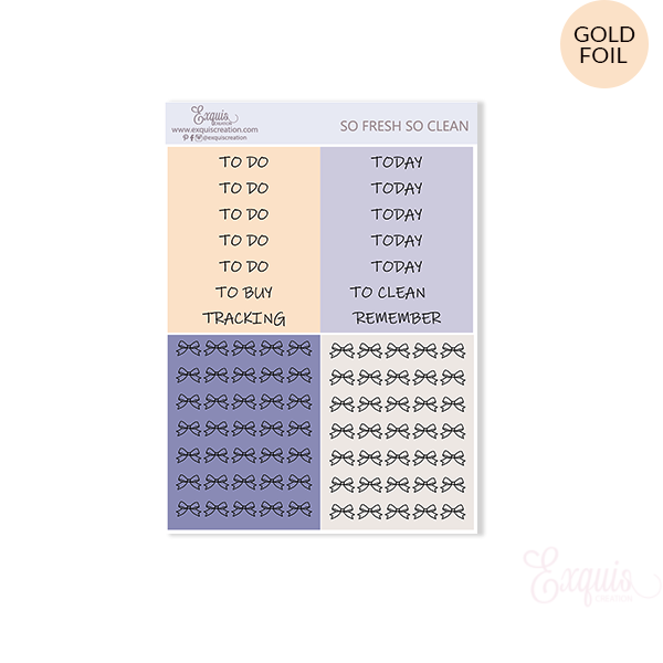 Planner sticker | So Fresh | Headers ADDON