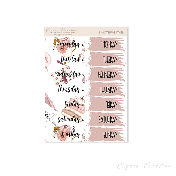 Planner sticker | Sweater Weather | Date Covers ADDON