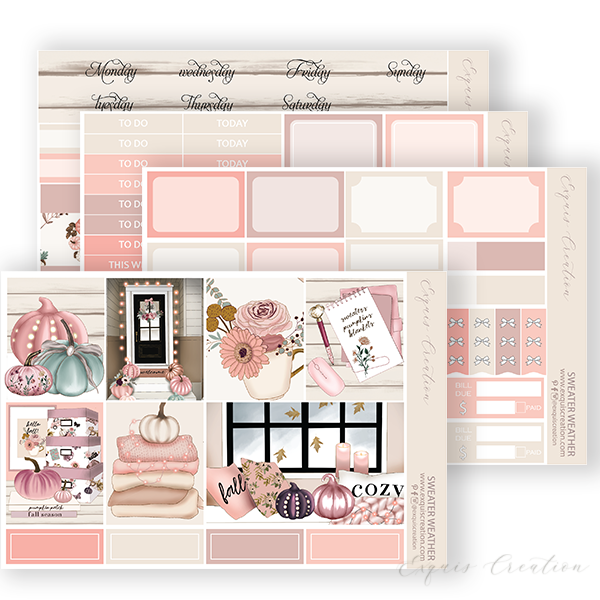 Planner Sticker | Mini Kit | Sweater Weather