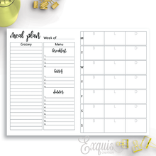 Planner Inserts | Printable TN Meal Plan