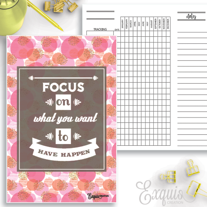 Planner Inserts | Yearly Tracker | Printable Inserts