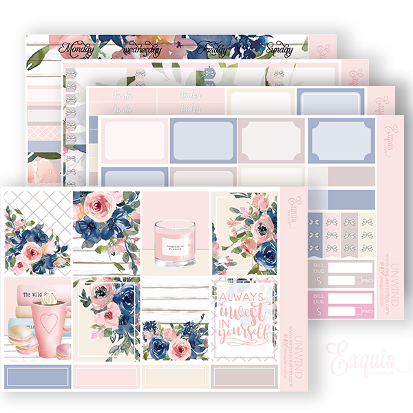 Planner sticker | Full kit | Unwind