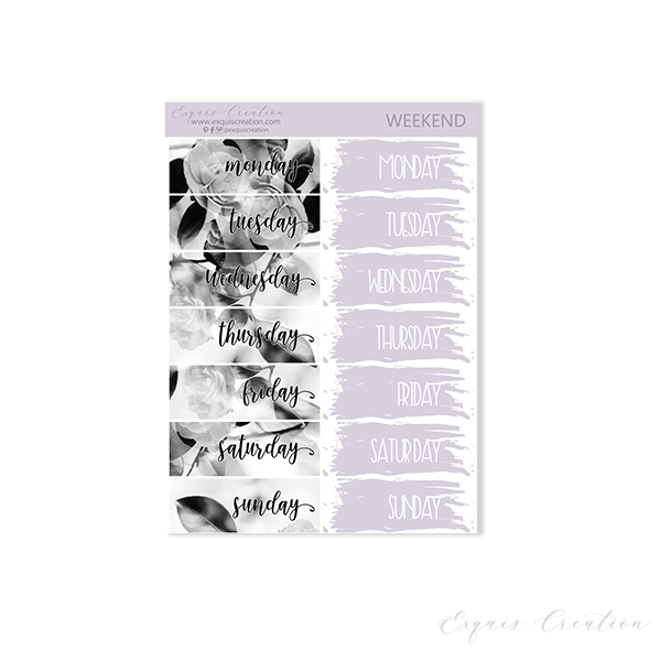Planner sticker | Weekend | Date Covers ADDON