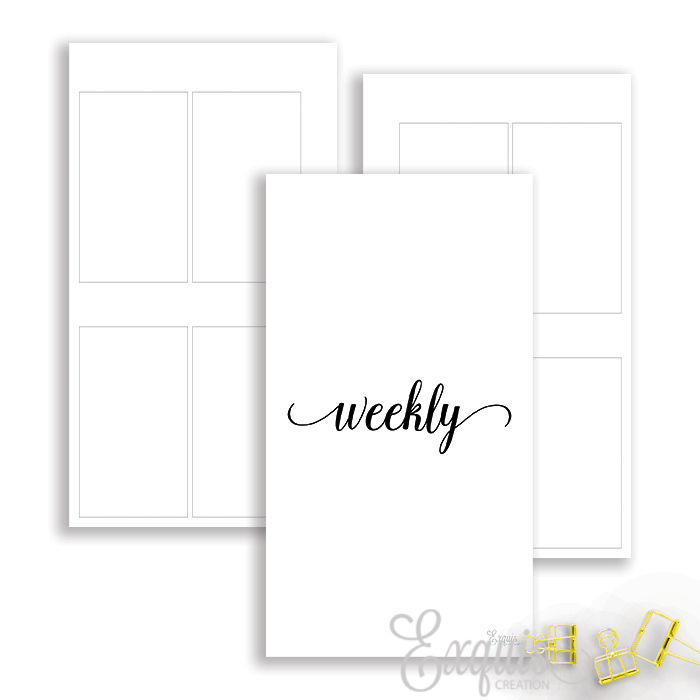 Planner Inserts | Personal Ring | Week On 2 Undated