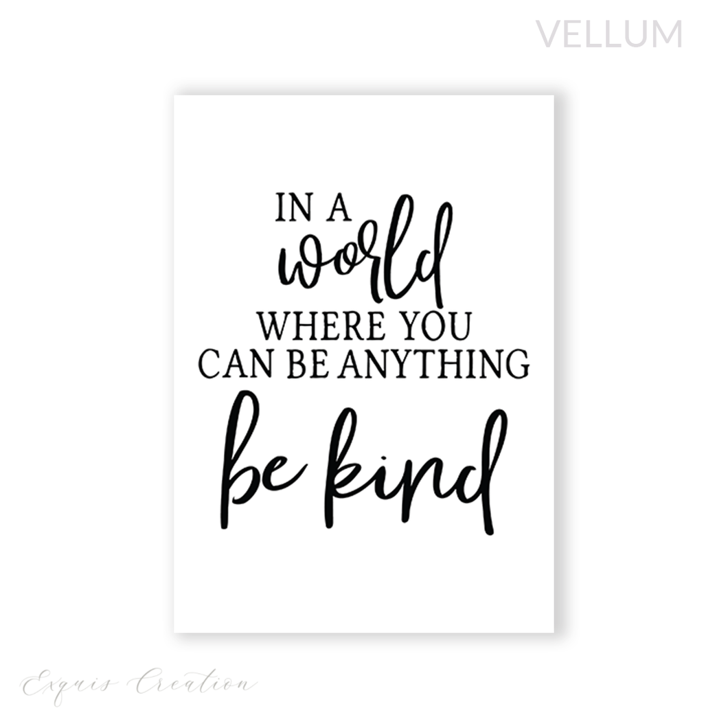Vellum | Dashboard | Be Kind