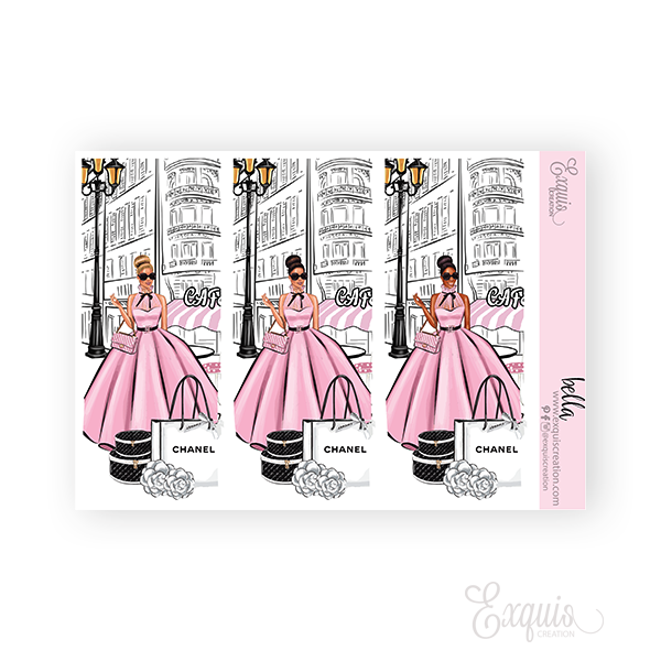 Planner sticker | Fashion Girl | Bella