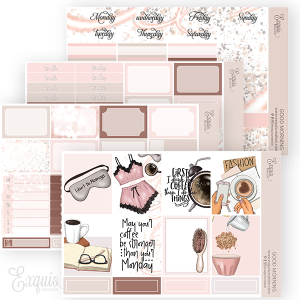 Planner sticker | MINI Kit | Good Morning