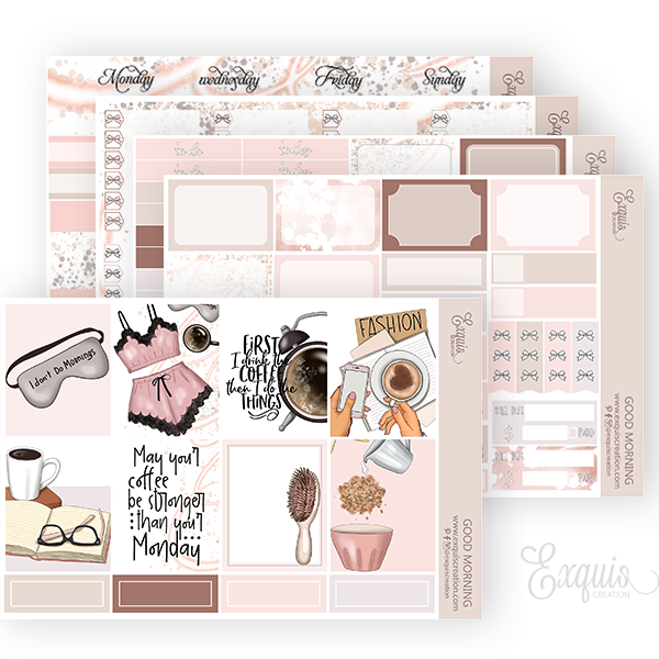 Planner sticker | Full Kit | Good Morning