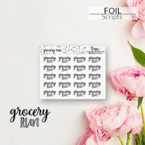 Foil Sticker | Scripts | Grocery Run