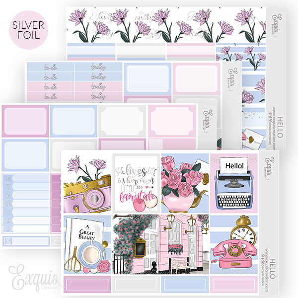 Planner sticker | Foil Mini Kit | Hello