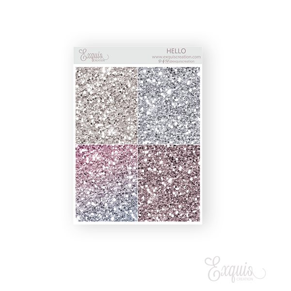 Glitter Header Hello - Planner sticker