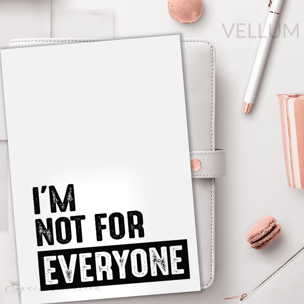 Vellum | Dashboard | I Am Not For Everyone