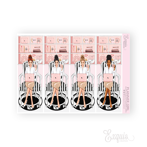 Planner sticker | Fashion Girl | Planner Girl
