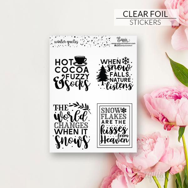 Foil | Sweater Weather | Quote Boxes