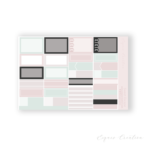 Planner Sticker | Functional Sheet | Sweet Escape
