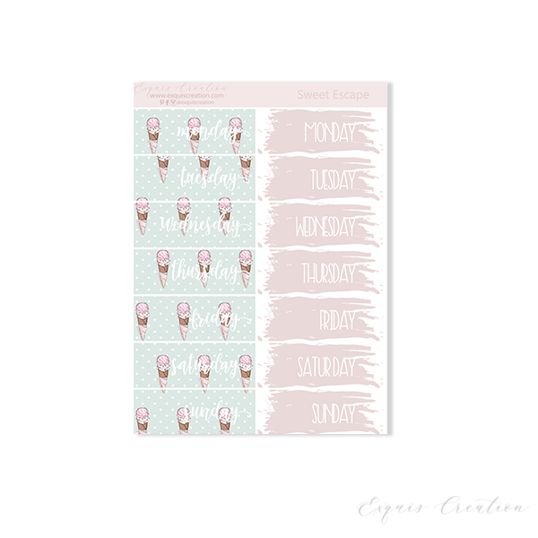 Planner sticker | Sweet Escape | Date Covers ADDON