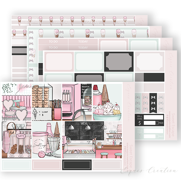 Planner sticker | Full kit | Sweet Escape