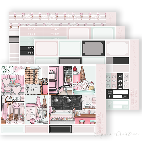 Planner Sticker | Mini Kit | Sweet Escape