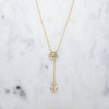 Ahoy! Anchor Lariat Necklace