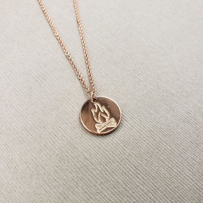 Campfire Stamped Necklace