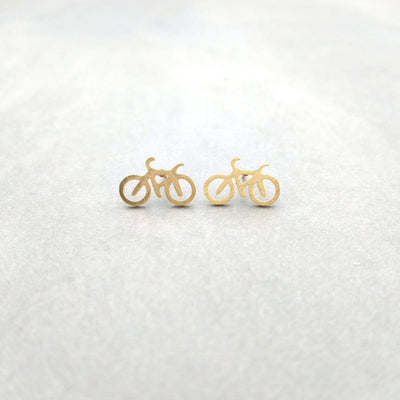 Bicycle Earrings Earrings 18k Gold Dipped Penny + Grace Earrings, Gold, Rose Gold, Silver 12.95 Penny + Grace