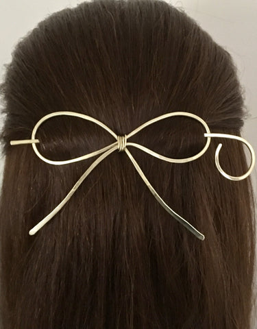 Bow Hair Barrette | Copper Brass Nickel Silver | All Hair Types