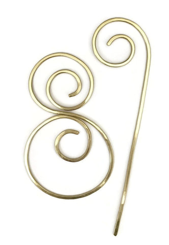 Circles Hair Barrette Brass
