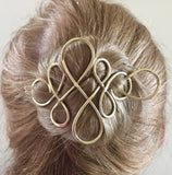 Celtic Diamond Hair Barrette | All Hair types