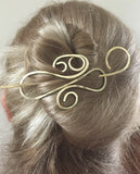 Curls Hair Barrette Brass
