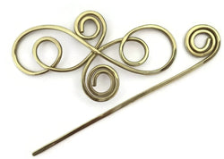 Swirls Hair Barrette Brass