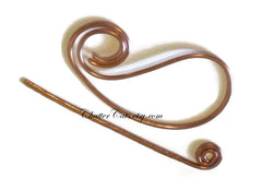 Paisley Hair Barrette Copper