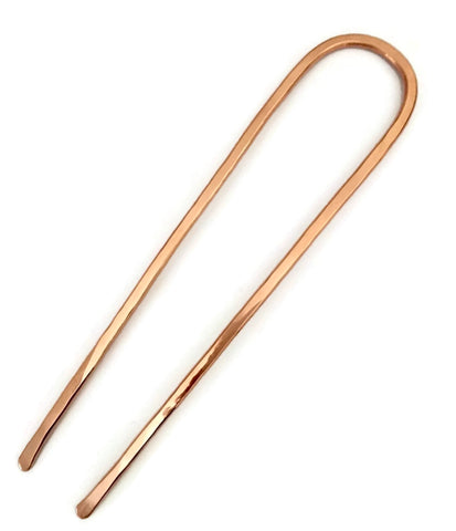 Classic U Shape Hair Fork Copper Medium Hair