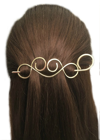 Simple Hair Barrette Copper