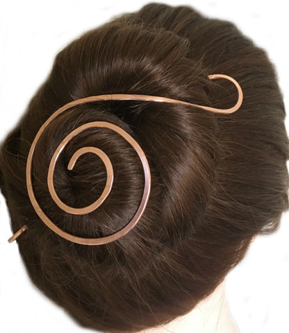 Swirl Hair Stick Copper Large