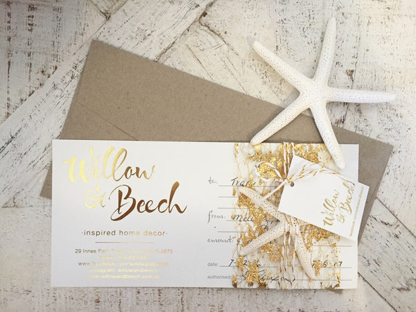 Willow & Beech Gift Voucher