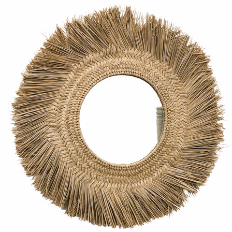 Braided Seagrass Mirror | Natural