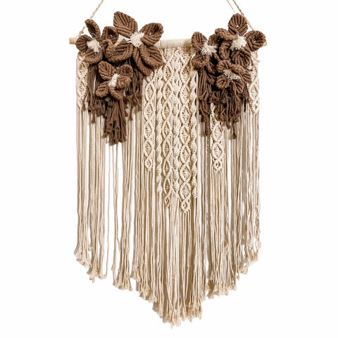 Blossom Macrame Wall Hanging | Chocolate