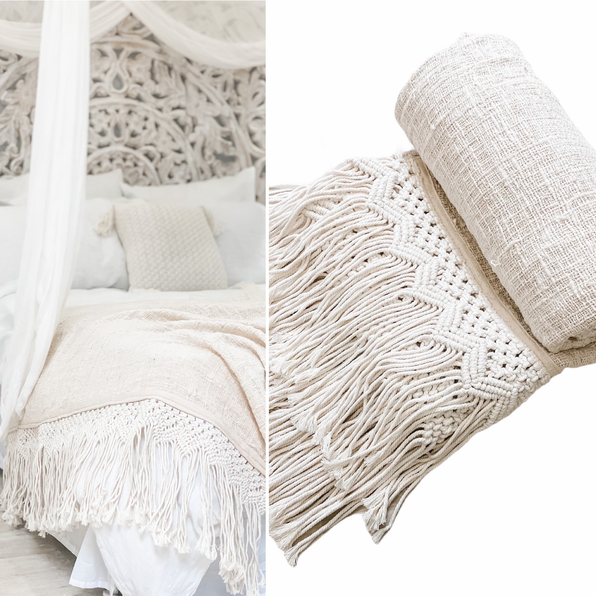 Summer Breeze Throw Natural