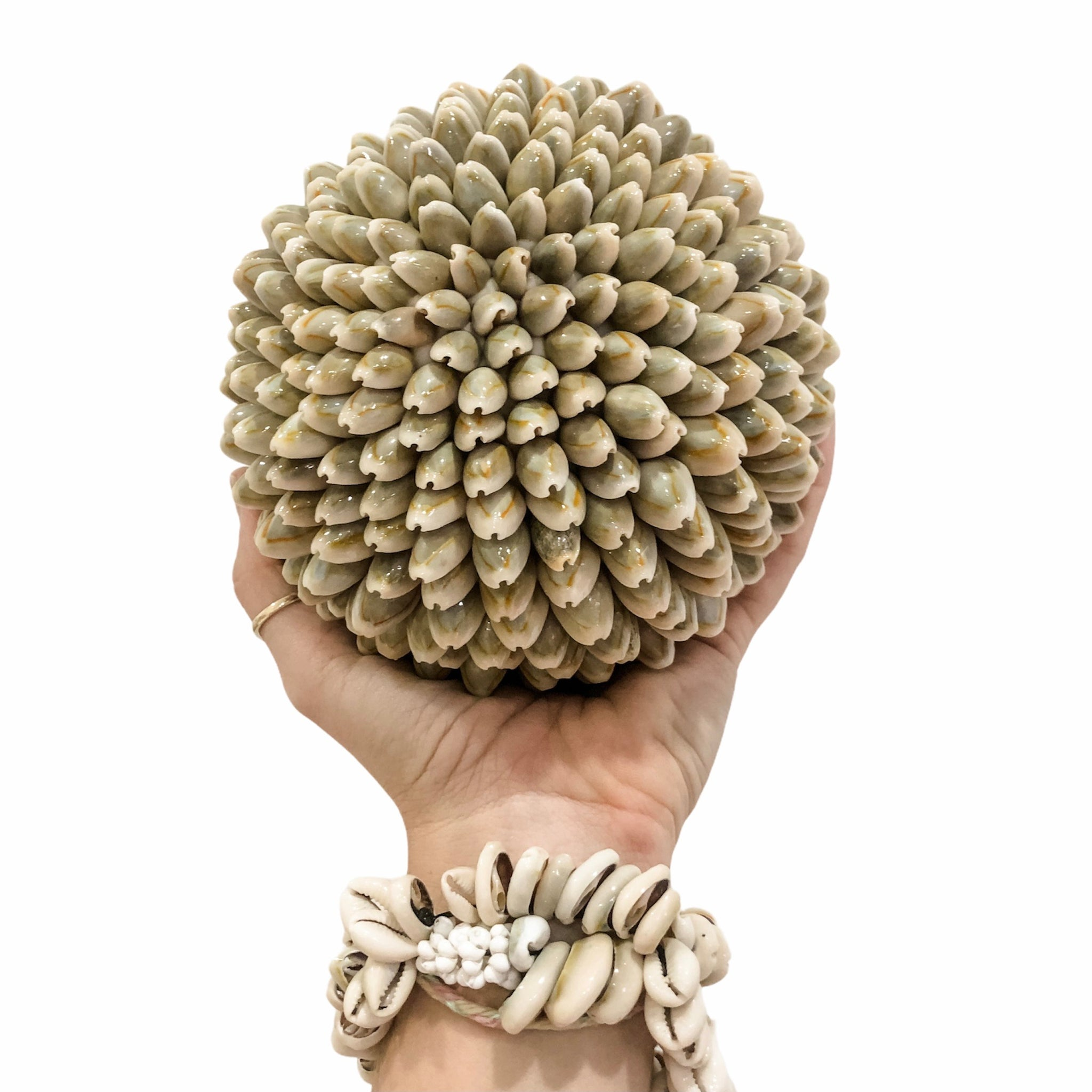 Cowrie Shell Ball - Grey
