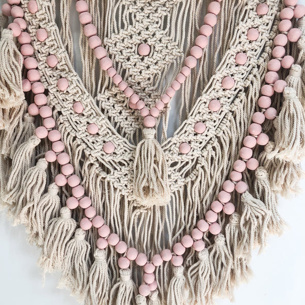 Macrame Wall Hanging - Dusty Pink