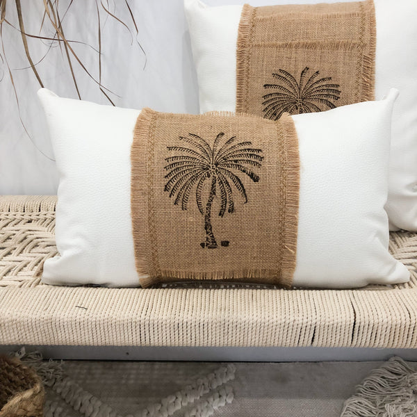 Stamped Palm Cushions
